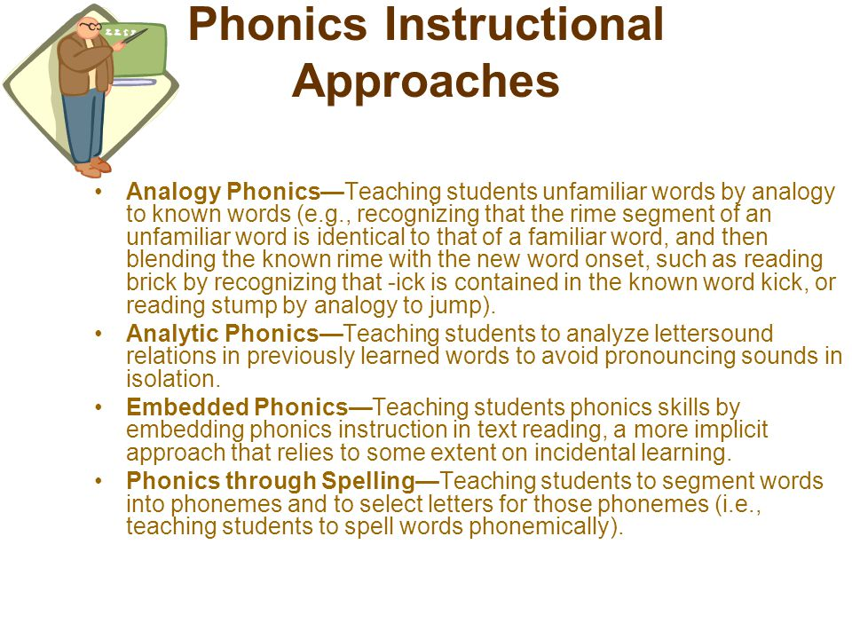 Phonics Instructional Approaches