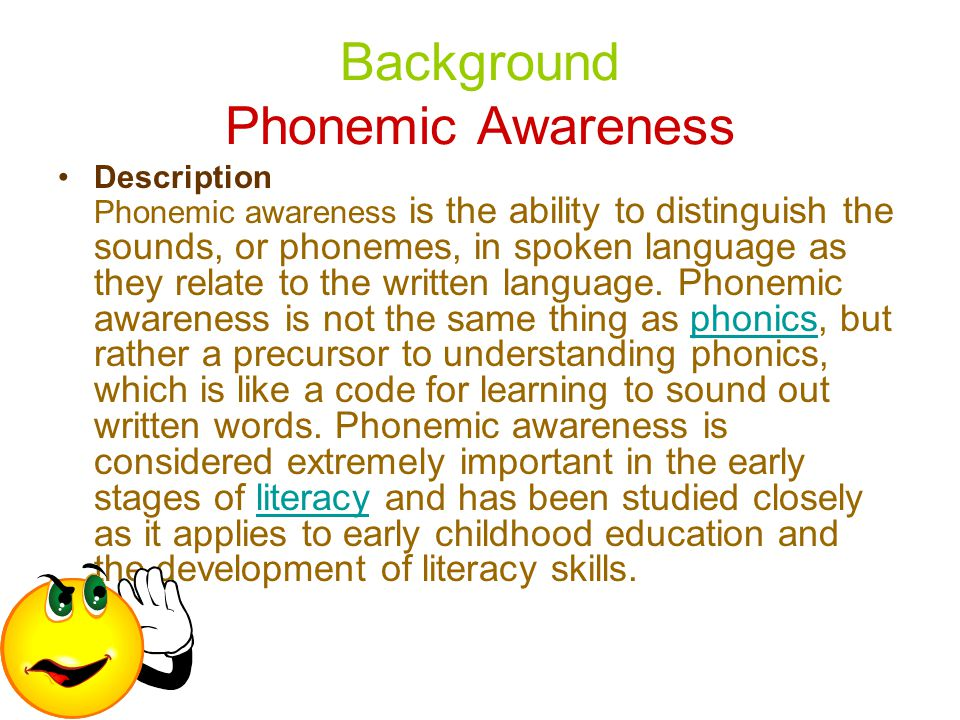 Background Phonemic Awareness