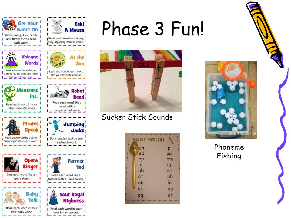 Phase 3 Fun! Sucker Stick Sounds Phoneme Fishing