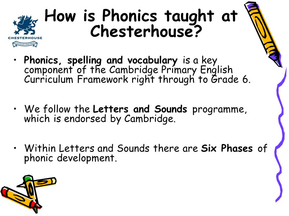 How is Phonics taught at Chesterhouse
