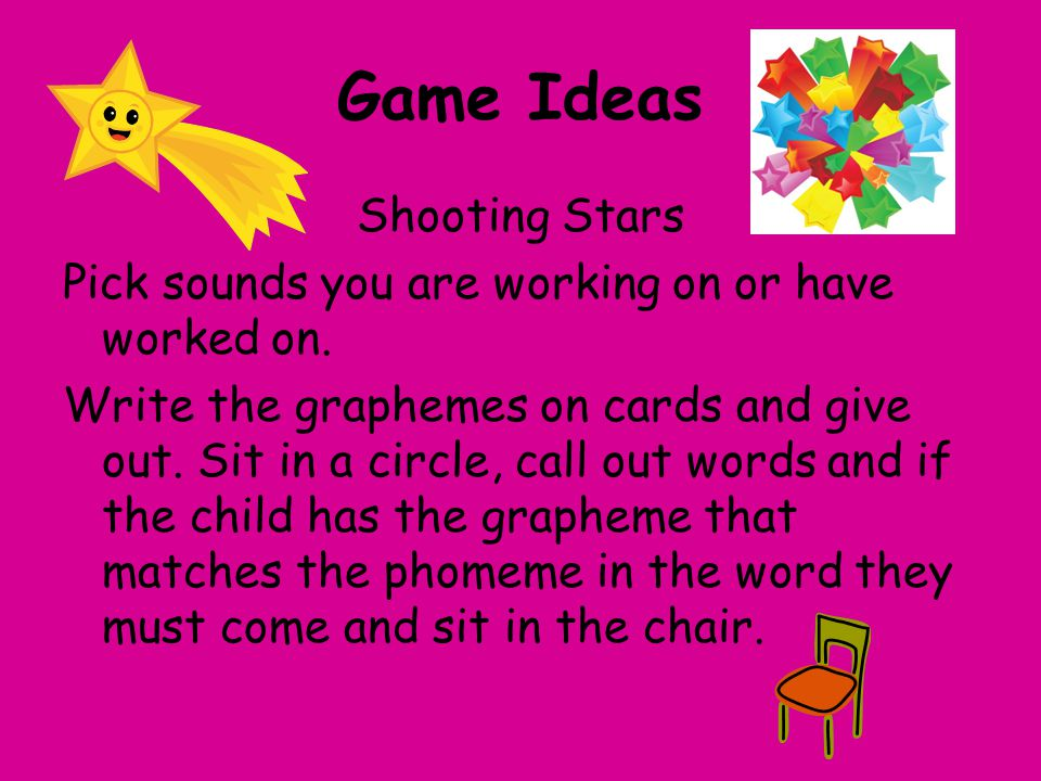 Game Ideas Shooting Stars