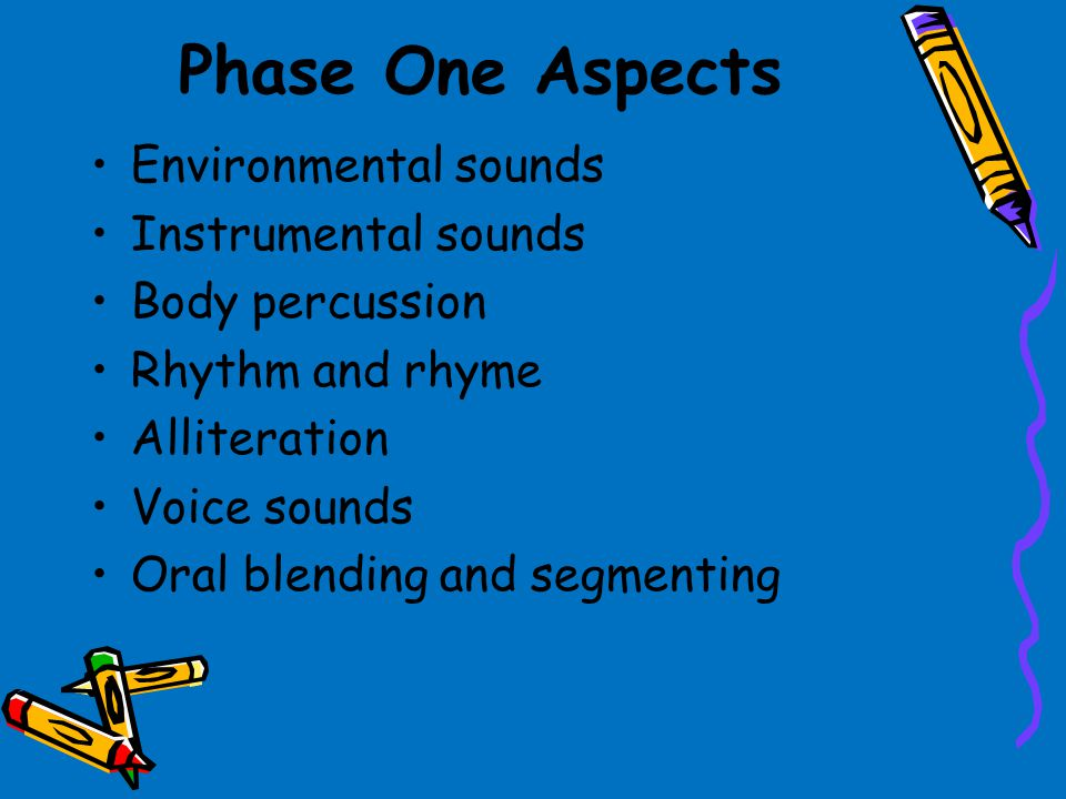 Phase One Aspects Environmental sounds Instrumental sounds
