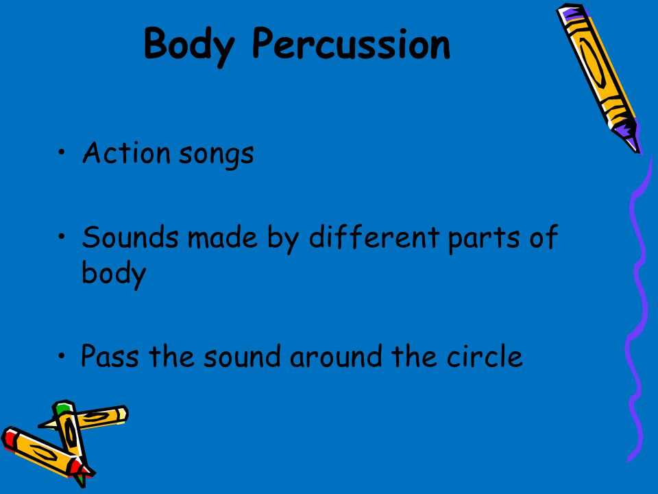 Body Percussion Action songs Sounds made by different parts of body