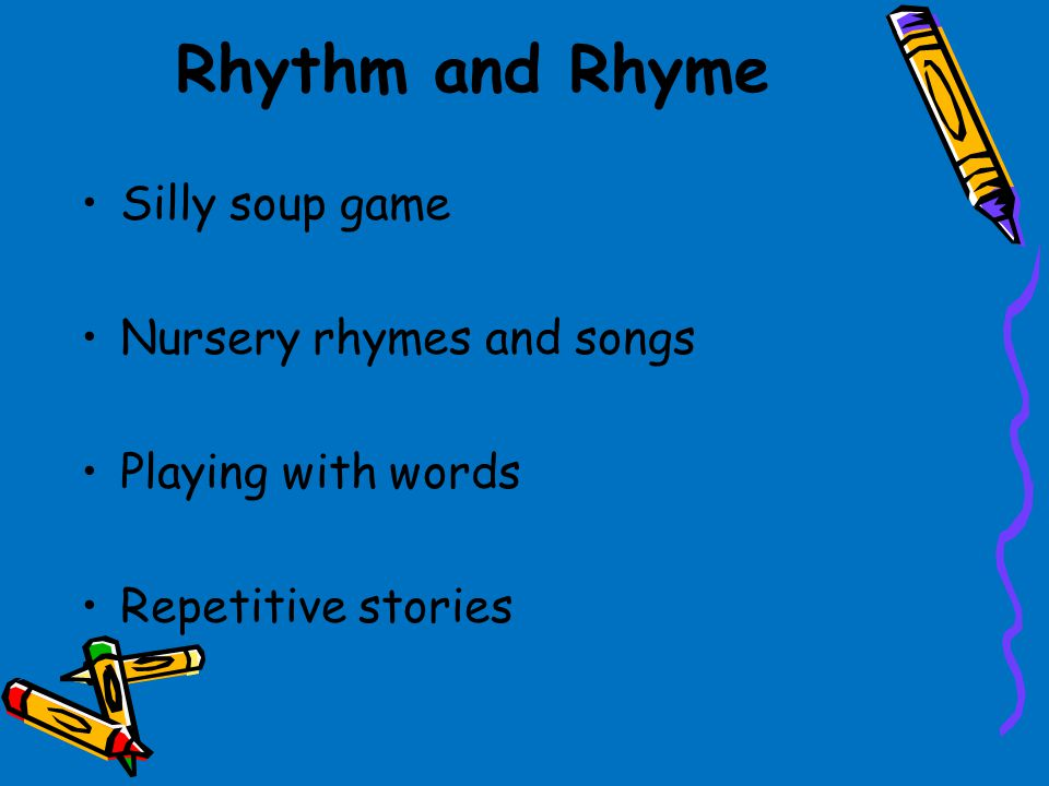 Rhythm and Rhyme Silly soup game Nursery rhymes and songs