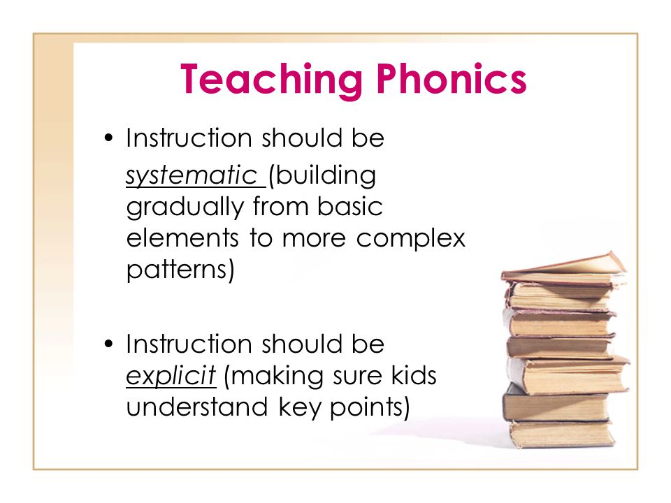 Teaching Phonics Instruction should be
