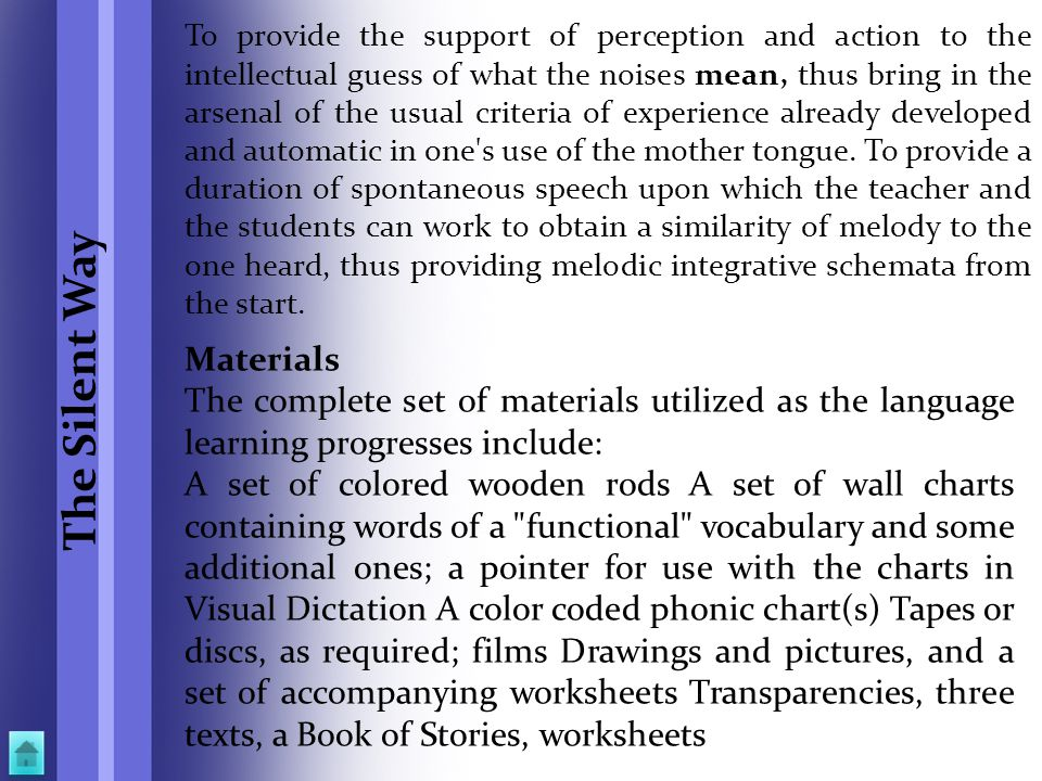 The Silent Way Materials
