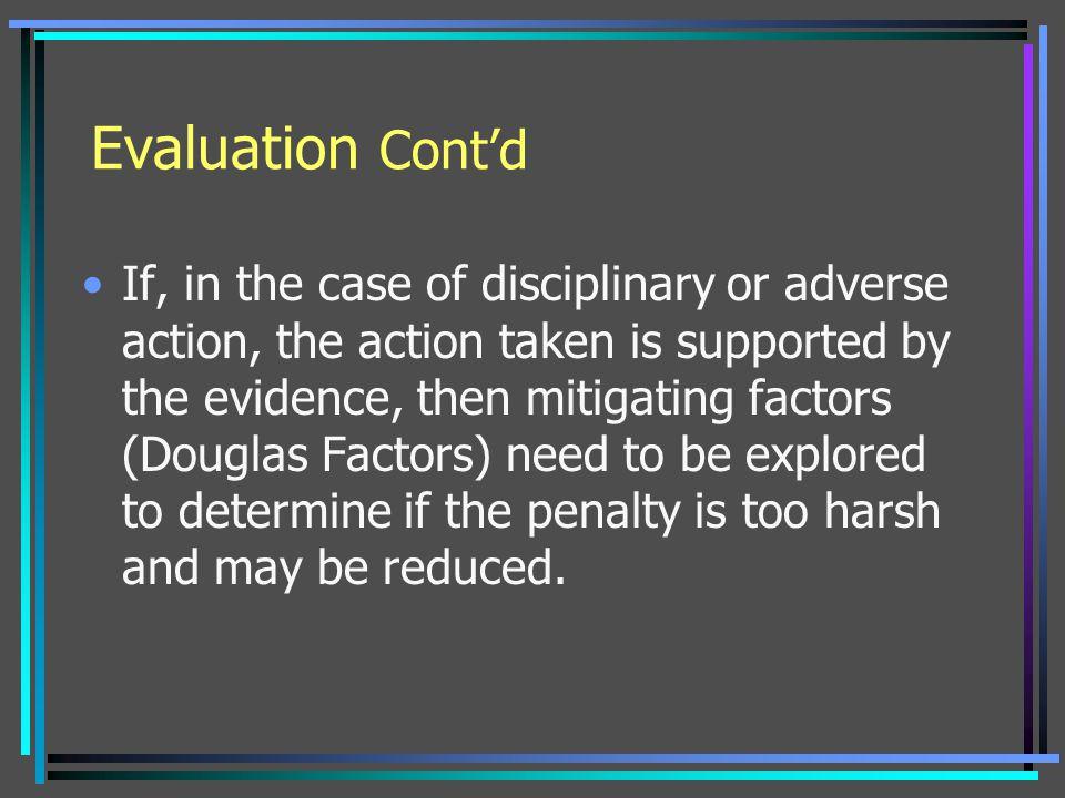 Evaluation Cont'd