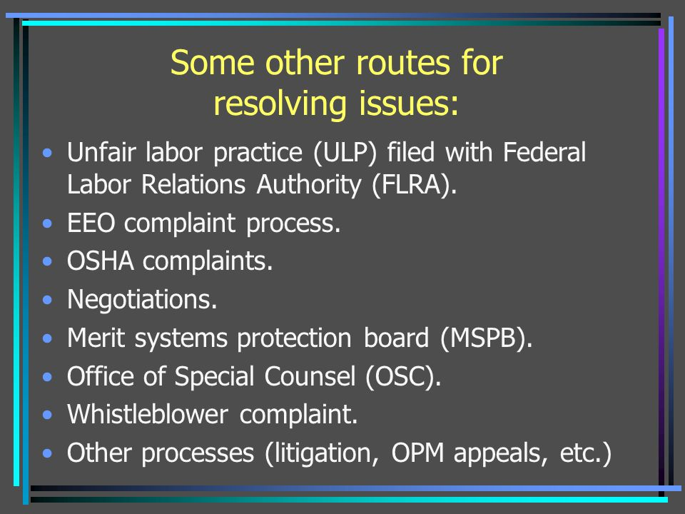Some other routes for resolving issues:
