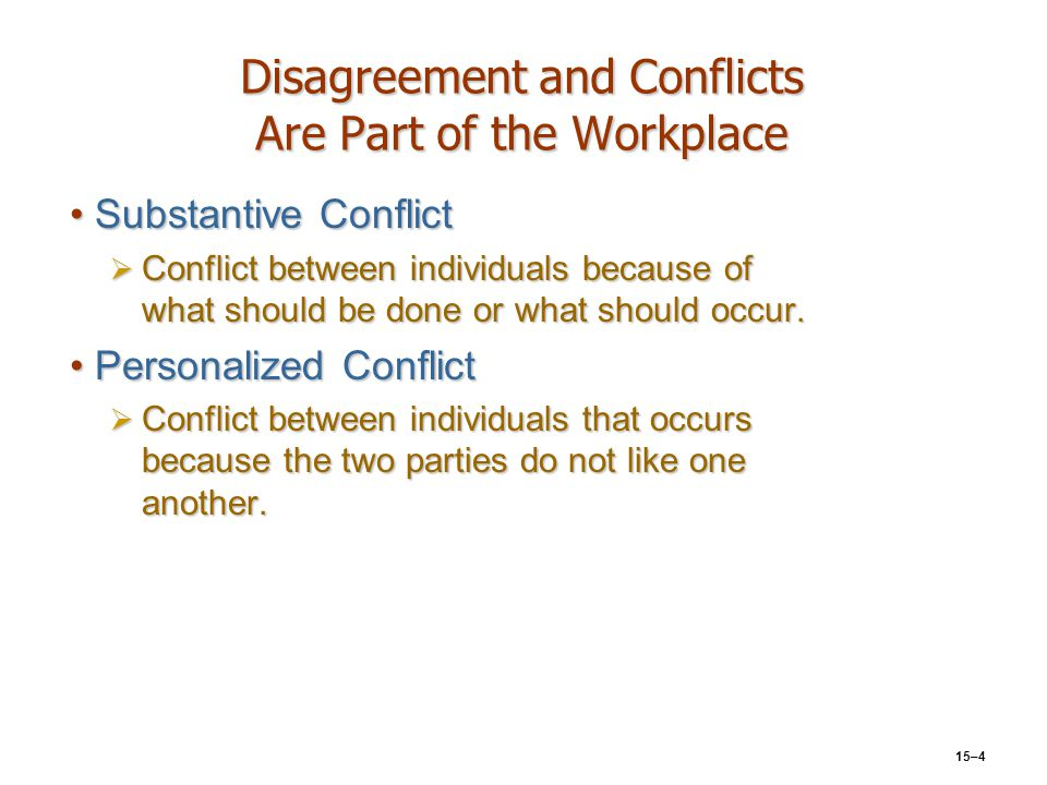 Disagreement and Conflicts Are Part of the Workplace