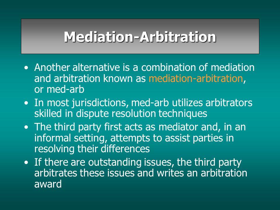 Mediation-Arbitration