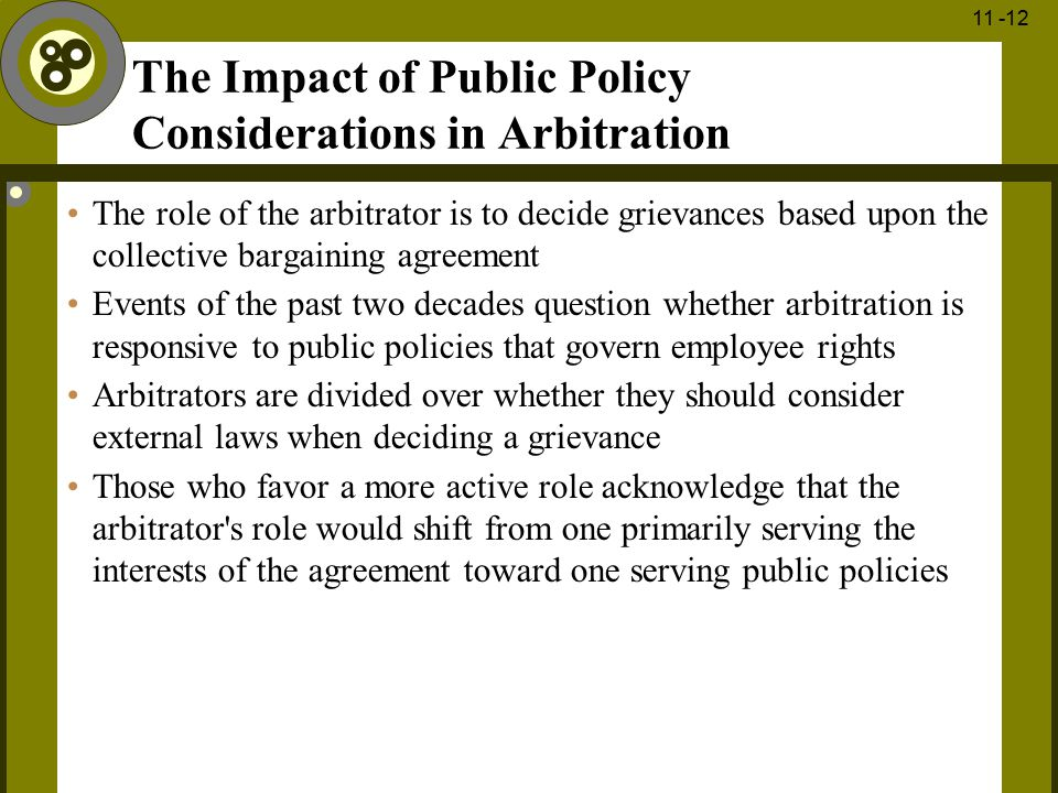 The Impact of Public Policy Considerations in Arbitration