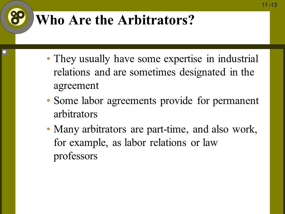Who Are the Arbitrators