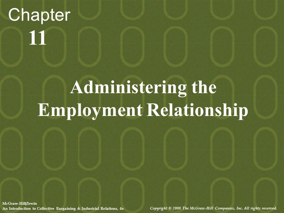 Administering the Employment Relationship
