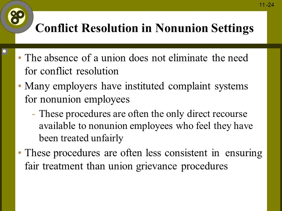 Conflict Resolution in Nonunion Settings