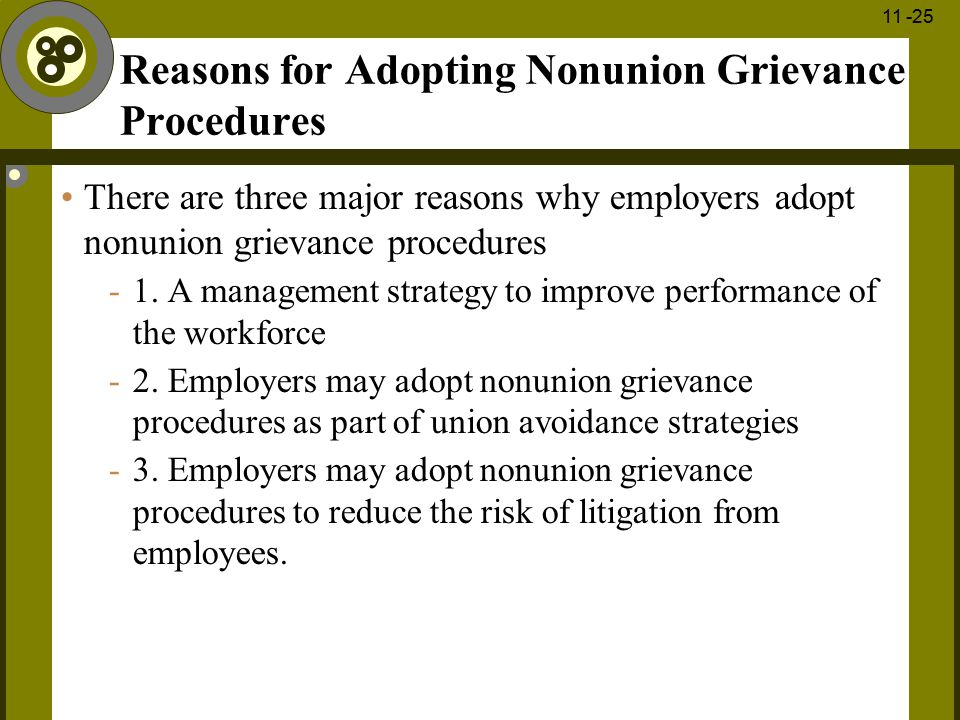 Reasons for Adopting Nonunion Grievance Procedures