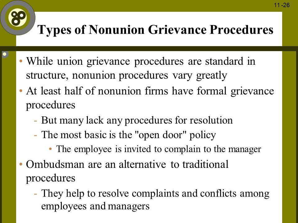 Types of Nonunion Grievance Procedures