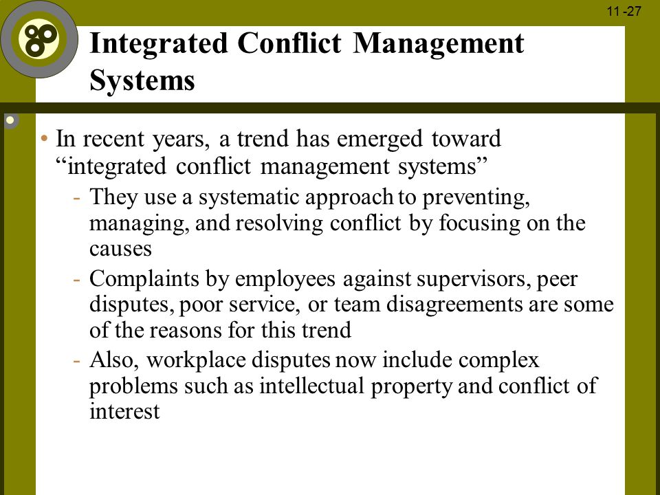 Integrated Conflict Management Systems