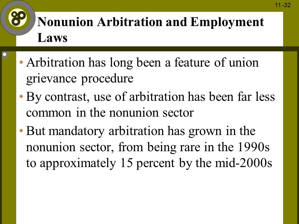 Nonunion Arbitration and Employment Laws