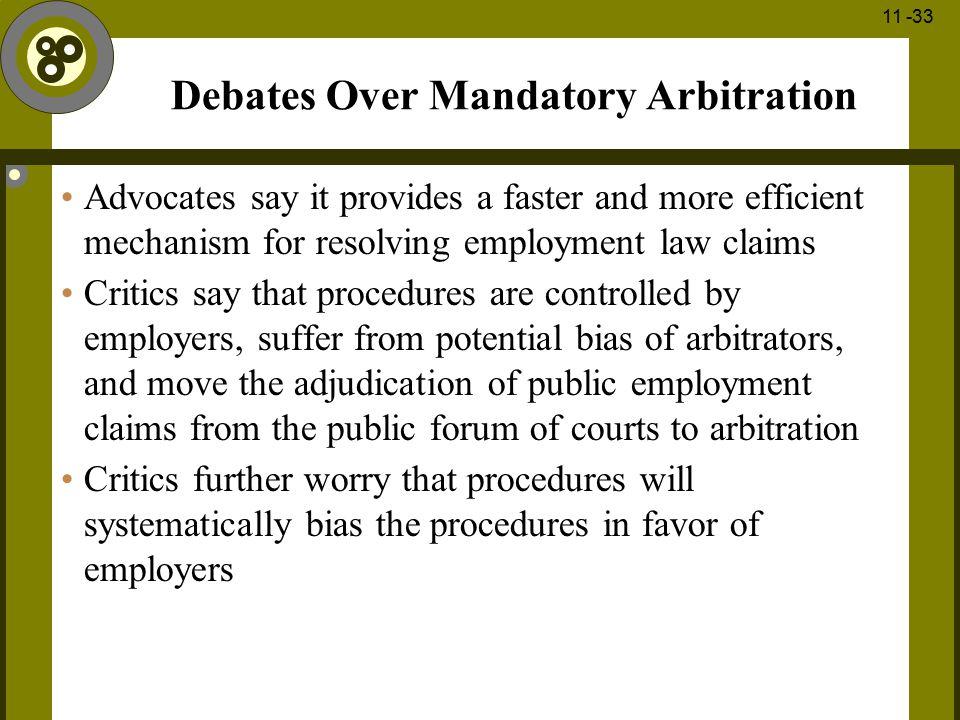 Debates Over Mandatory Arbitration