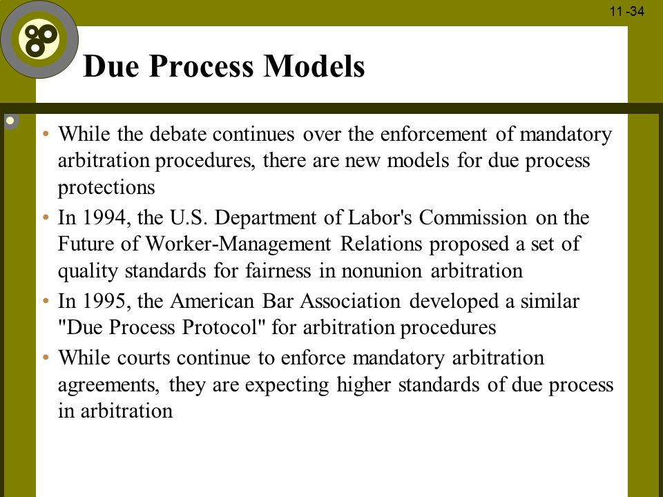 Due Process Models