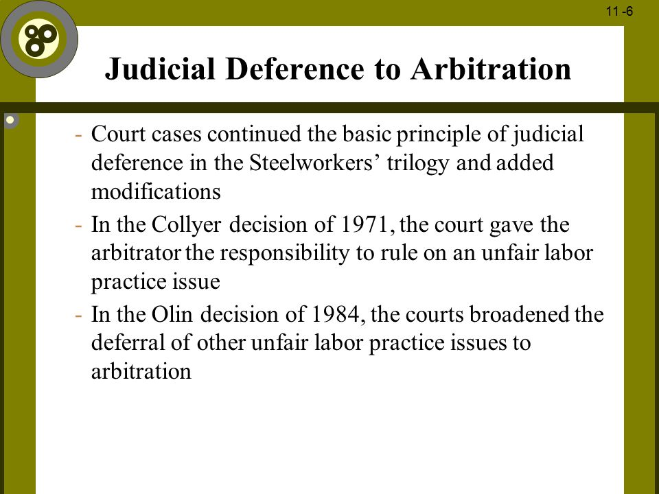 Judicial Deference to Arbitration