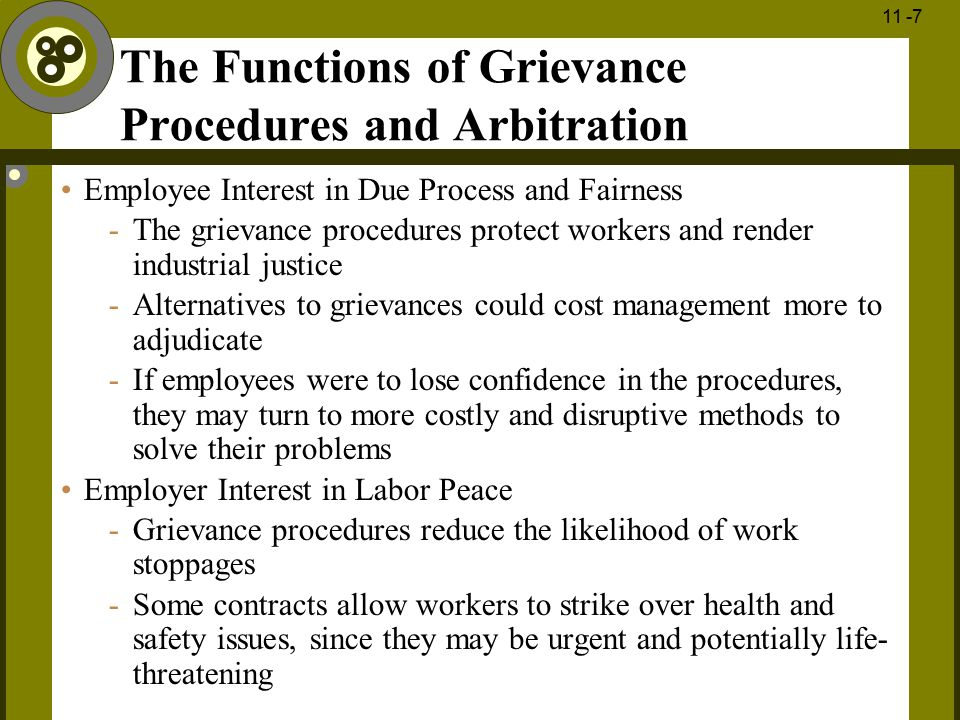 The Functions of Grievance Procedures and Arbitration