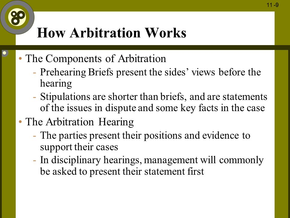 How Arbitration Works The Components of Arbitration