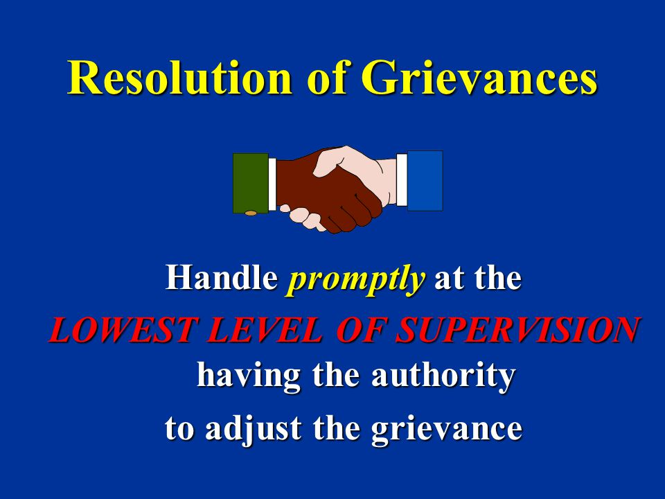 Resolution of Grievances