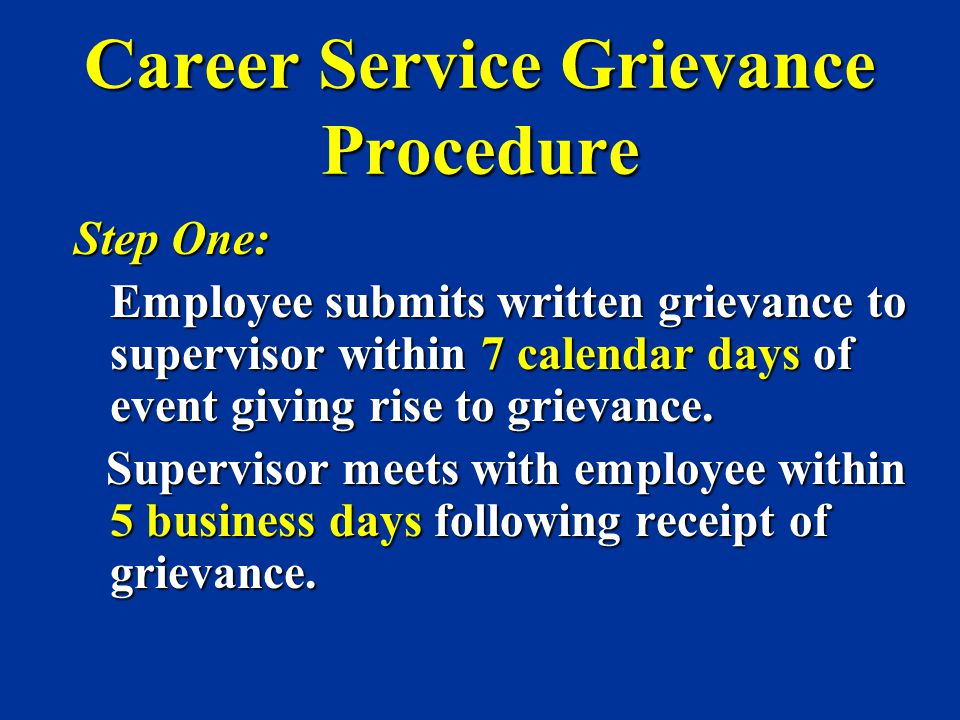 Career Service Grievance Procedure