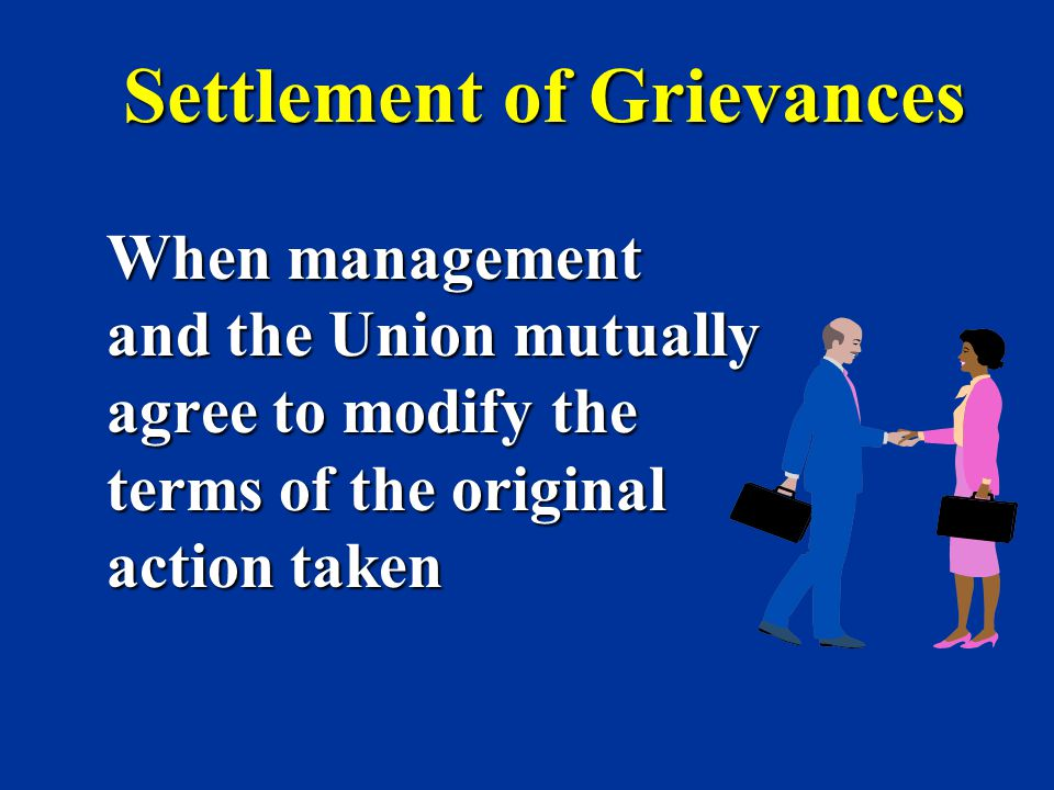 Settlement of Grievances