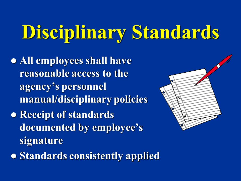 Disciplinary Standards