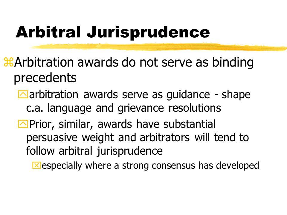 Arbitral Jurisprudence