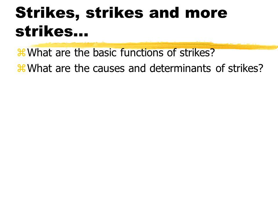 Strikes, strikes and more strikes...