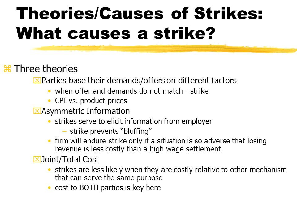 Theories/Causes of Strikes: What causes a strike