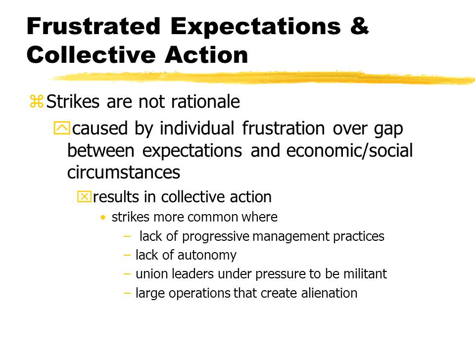 Frustrated Expectations & Collective Action