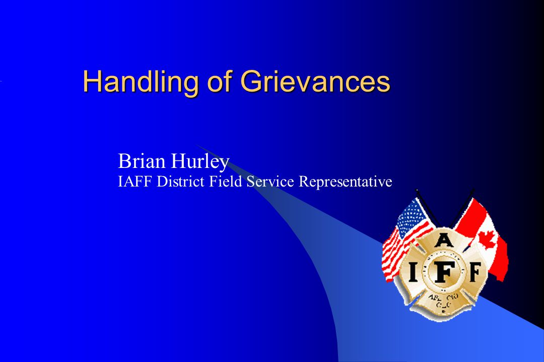 Handling of Grievances