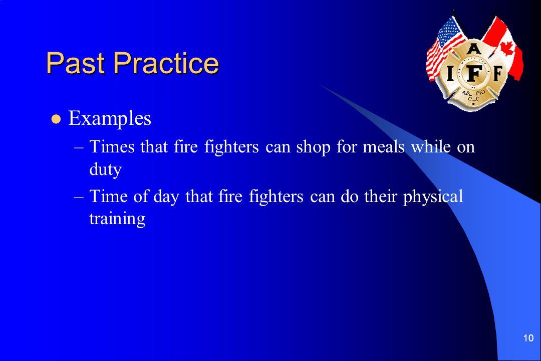 Past Practice Examples