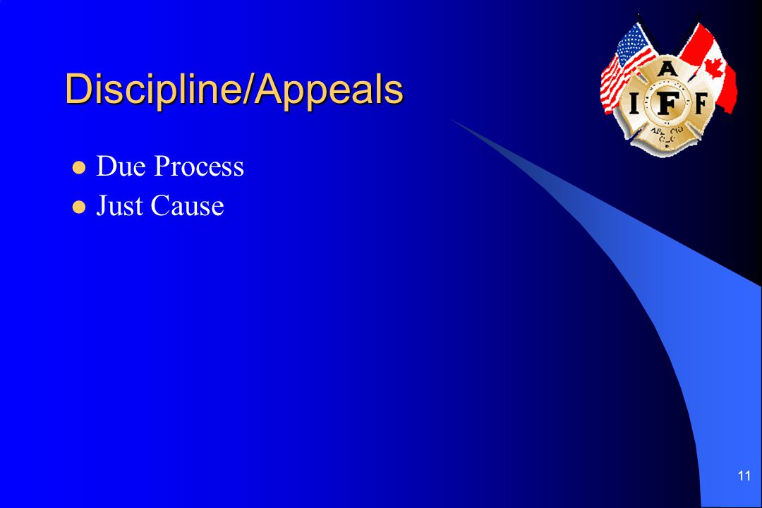 Discipline/Appeals Due Process Just Cause