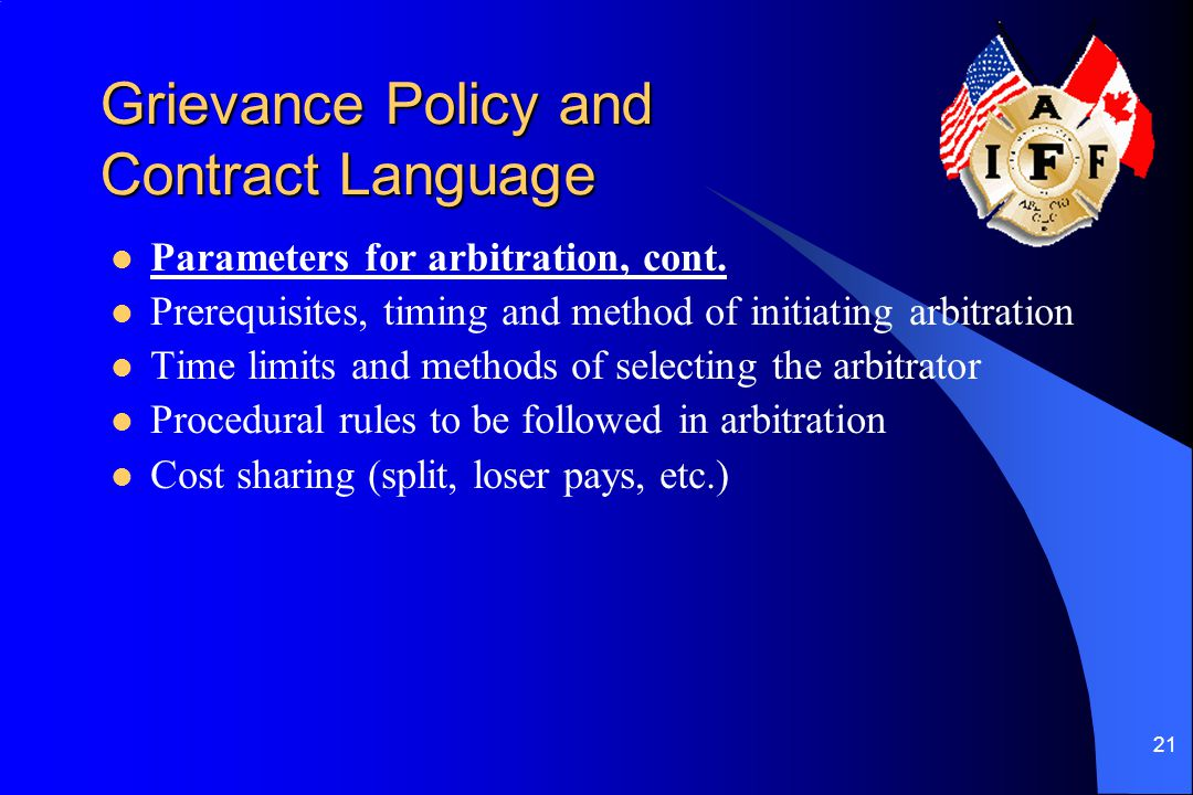 Grievance Policy and Contract Language