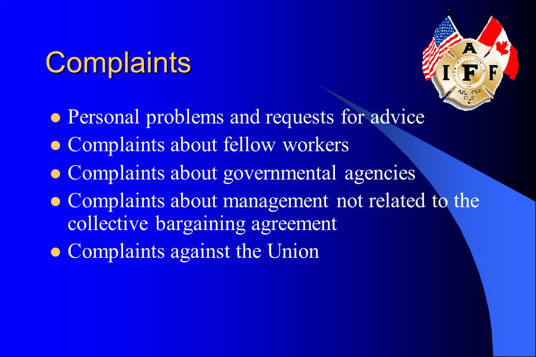 Complaints Personal problems and requests for advice