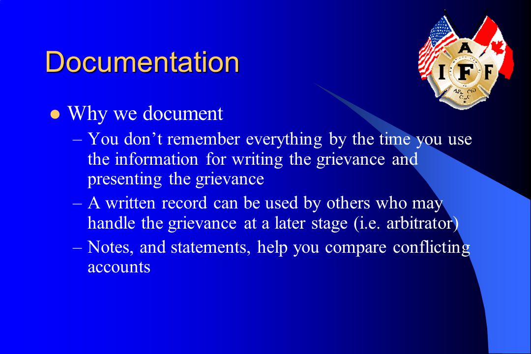 Documentation Why we document