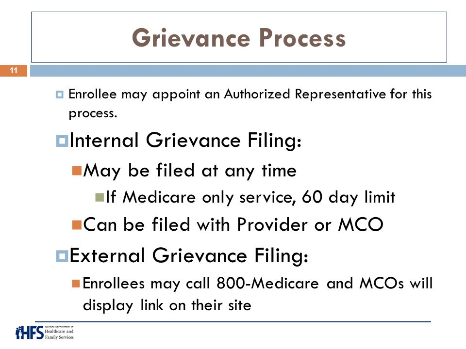 Grievance Process Internal Grievance Filing: