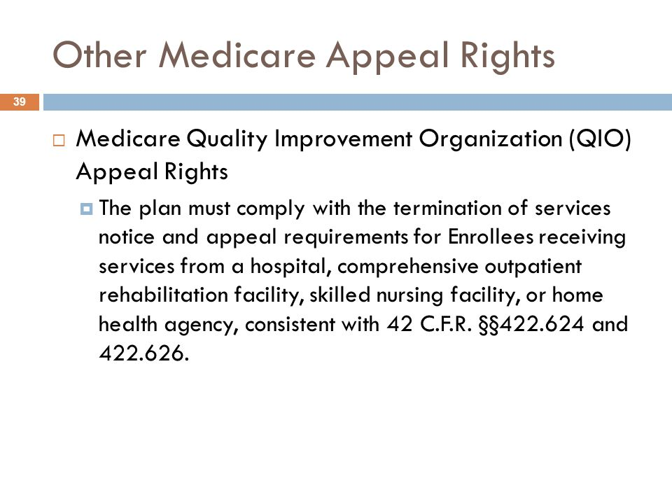 Other Medicare Appeal Rights