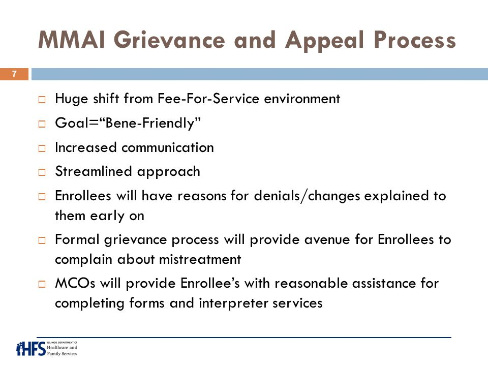 MMAI Grievance and Appeal Process
