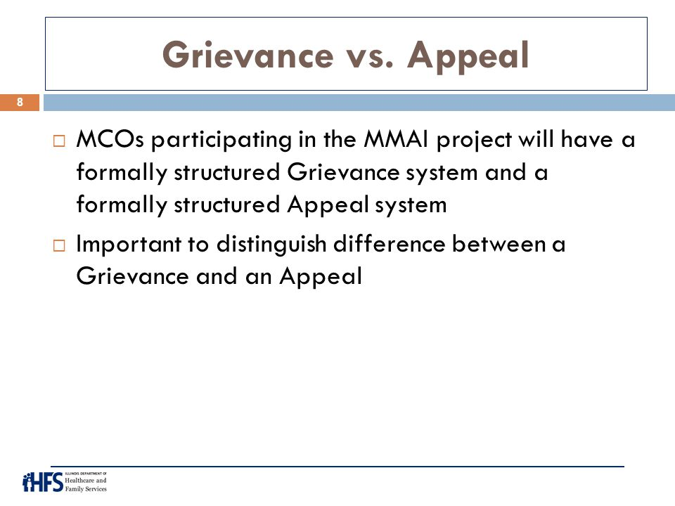 Grievance vs. Appeal