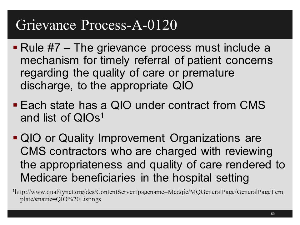 Grievance Process-A-0120
