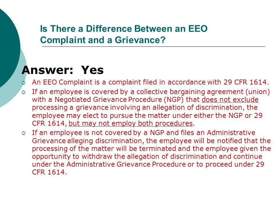 Is There a Difference Between an EEO Complaint and a Grievance