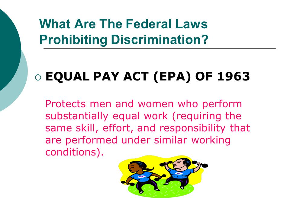 What Are The Federal Laws Prohibiting Discrimination