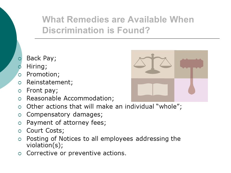 What Remedies are Available When Discrimination is Found
