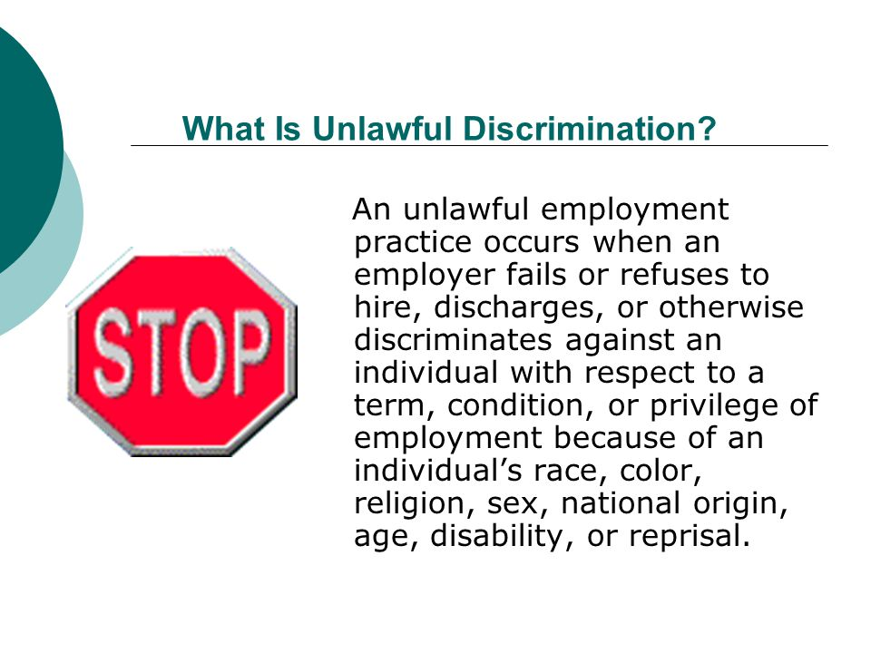 What Is Unlawful Discrimination